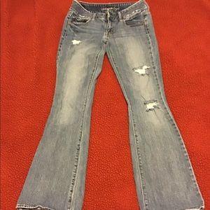 AE Artist distressed stretch regular jeans size 6